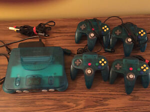 Awesome Nintendo N64 Lot! 4 Controllers + Great Games!!
