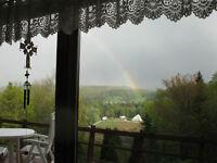 Fermette panoramique avec maison à vendre.