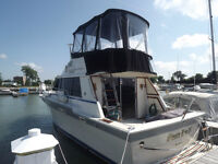 1987 34 silverton/flybridge/bow thruster