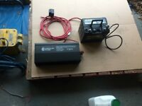 Inverter and leisure battery motorhome valet