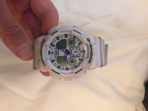 White G shock watch