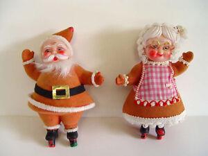 Vintage Christmas Santa and Mrs. Claus