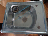 TOP MOUNT ISLAND/KITCHEN SINK NEW IN THE BOX ! STAINLESS STEEL