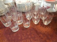 Several Sets of 16 Vintage Crystal Glasses at KeepSakes Antiques