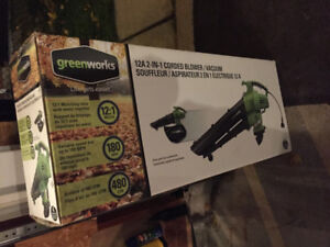 Greenworks 12A 2-in-1 Corded Blower/Vacuum BRAND-NEW ~ $50