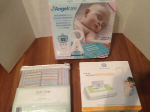 Angel Care Monitor/Baby Wipe Warmer/New Baby Drapes
