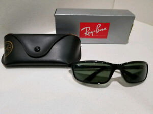 Mens Genuine Ray Ban Sunglasses, Black, Made in Italy!