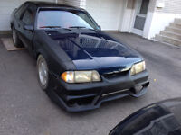 1989 MUSTANG COBRA BLACK WIDOW BODY KIT $3500 OR TRADE FOR ????