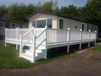 8 berth prestige caravan for hire in Haggerston csstle