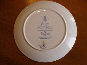 TWO 1983 ROYAL DOULTON Plates Juliana & Gabriella by Francisco M London Ontario image 9