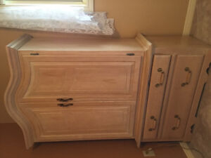 Solid Wood Bedroom Set ( Bed Itself not included )