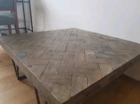 French Connection Mango Wood Parquet Coffee Table