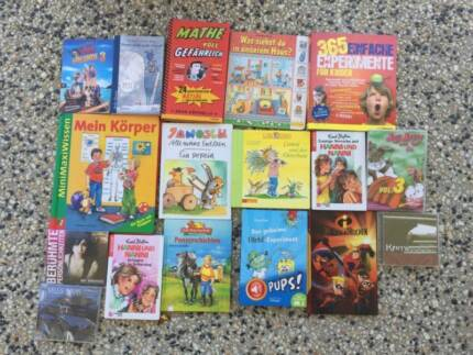 40 German Books, DVDs, CDs, mostly kids but also some for adults