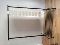IKEA hanging rack and shoe organizer