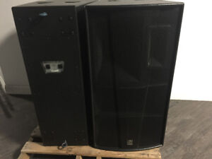 MARTIN PRO AUDIO BLACKLINE H3 SPEAKERS-MARTIN WSXA and FSX BASS
