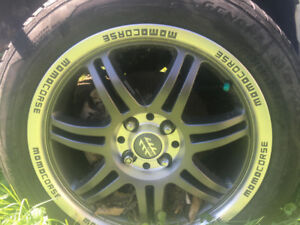 I'm selling 16 inch summer tires and mom mags