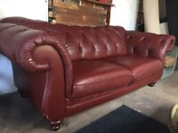 Winchester Chesterfield chestnut sofa