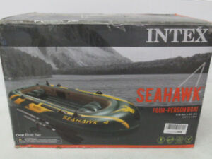 Intex Seahawk 4, 4-Person Inflatable Boat Set with Aluminum Oars