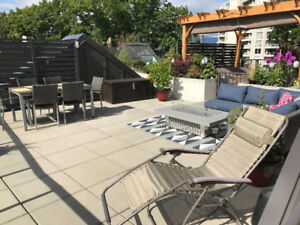 1 Bed / 1 Bath New Westminster Private Roof Top Patio
