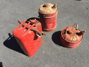 Vintage Metal Gas Cans