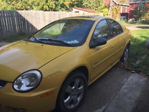 2003 Yellow Dodge Neon Windsor Region Ontario image 1