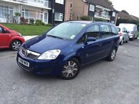 2008 VAUXHALL ZAFIRA 1.9TDI DIESEL 1 YEAR PCO LICENSE 7 SEATER