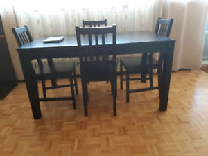 Table- IKEA, extendable,dark brown- LIKE NEW!! Perfect condition
