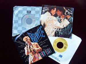 Bowie, Jagger & Prince - Four 45 Vinyl Records for one low price Cambridge Kitchener Area image 1