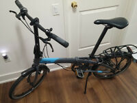 Tern Link D8 Folding Bike (Grey/ Blue color)