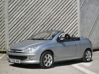 2006/56 PEUGEOT 206 1.6HDi ALLURE COUPE /CABRIOLET - 65+MPG - 71000 MILES !!