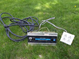 Power converter for trailer, camper, rv