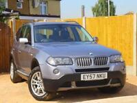2007 BMW X3 3.0d Turbo Diesel SE 6 Speed Auto Sat Nav Full Leather Just 2 Privat