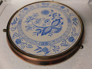 EASTER CAKE  FOOTED PLATE  / TURNING DELFTWARE GERMAN London Ontario image 1