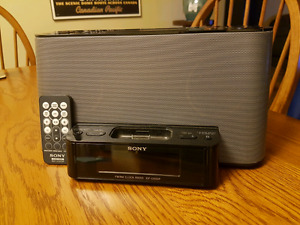 Sony ICF-CS10iP ipod dock/ alarm clock/radio. Remote controlled