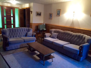 Couch set and tables for sale