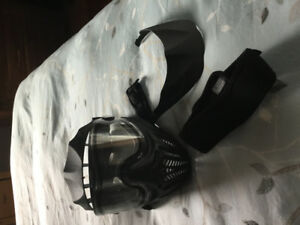 Paintball mask and neck guard
