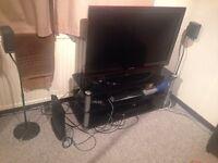 Samsung tv + pioneer digital amp + Sony 5.1 + stand