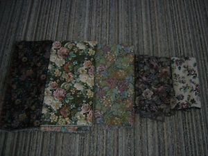 Quality Floral Upholstery Fabric Pieces Lot