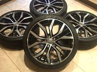 "19"" GENUINE VW GOLF MK7 GTD GTI SANTIAGO ALLOY WHEELS MK6 MK5 5x112 CADDY PASSAT EOS TRANSPORTER T4"