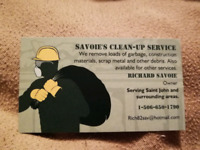Junk and Garbage removal, Savoie clean up service