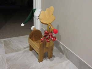 ADORABLE SOLID OAK REINDEER - REDUCED