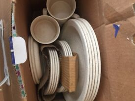 Set of plates,bowls,cups saucers