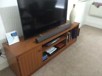 Wooden TV stand, entertainment set