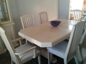 Dining Table And Hutch For Sale