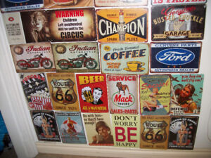 New Assorted 12 x 8 Tin signs $10 each