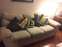 Sofa - Three seat sofa and matching arm chair