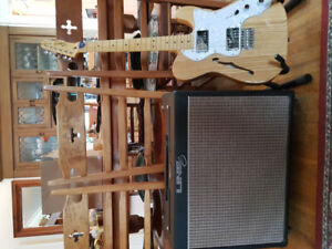 Squire Telecaster Thinline and Line 6 Flextone Plus Amp for sale