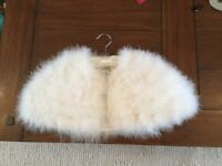 Child's Marabou cape