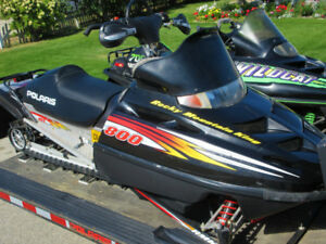 Package Deal - 2 Snowmobiles on Tilt Trailer