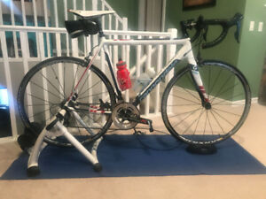 Cannondale CADD 10 Ultegra with indoor trainer